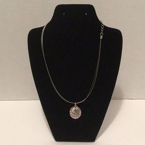 Chico's Silver Tone 3 Charm Necklace
